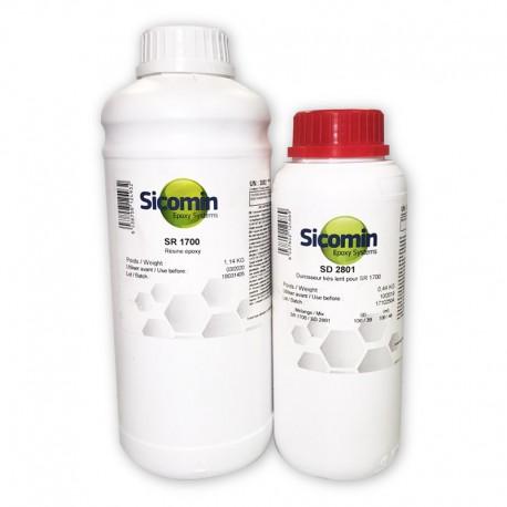 resina epoxi epoxidica 1700 con endurecedor lento con maximas caracteristicas mecanicas