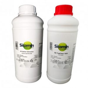 top clear 1054 producto epoxi estable a los rayos UV, brillante, translucido