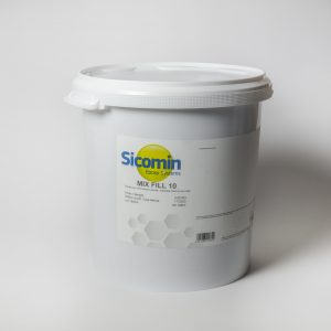 Mixfill 10 carga de polvo de color blanco para mezclar con resina formulado para endurecer y lijar
