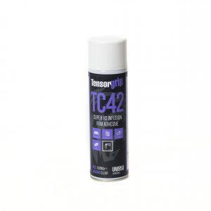 adhesivo spray para el pegado de fibras, malla, film perforado, peel ply en una pieza infusion RTM