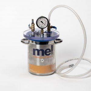 trampa de resina con vacuómetro