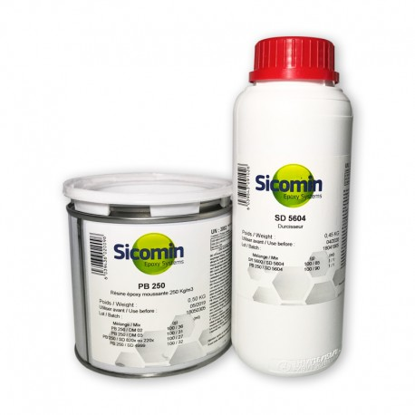resina epoxy foam espumable sicomin para rellenos pb250